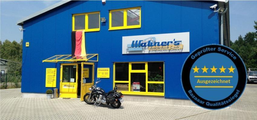 Wabners Bautechnik GmbH -Der Profi-Maschinenverleih zum fairen Preis